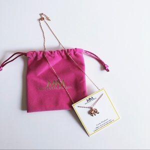 Melinda Maria Lucky Elephant Necklace